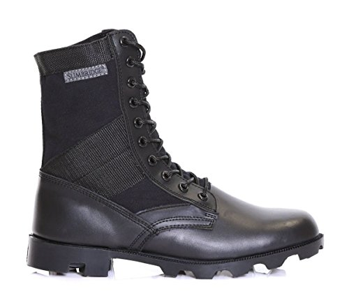 Slimbridge Force stivali di pelle militari, Nero 43