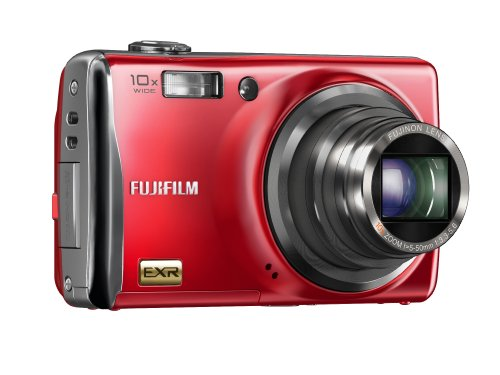 Fujifilm FinePix F80EXR 12 MP Super CCD EXR Digital Camera with 10x Wide Angle Optical Zoom and 3.0-Inch LCD (Red)