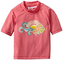 Kanu Surf Girls 2-6X Florence Swim Shirt, Pink, 3T