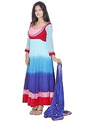 Tehzeeb Women's Faux Georgette Anarkali Salwar Suit - B016BH8XPE
