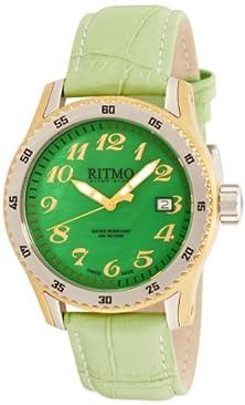 buy Ritmo Mundo Women'S 233 Yg Green Mop Extreme Quartz Mother-Of-Pearl Dial Watch