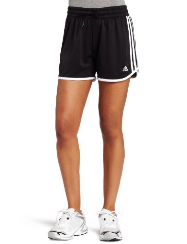adidas Women's Athlete's Choice Short (Black, White, X-Large 6)