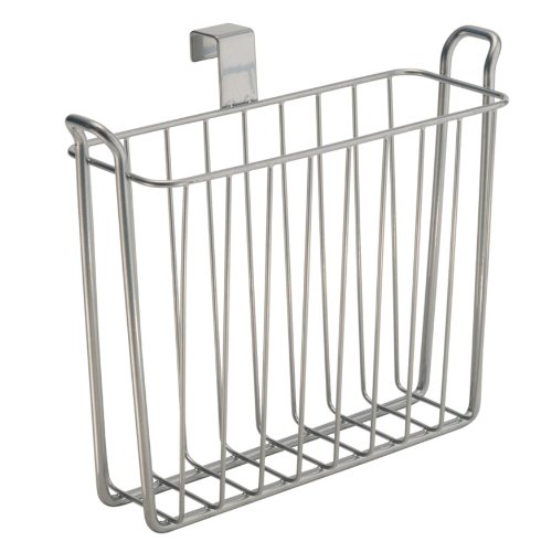 InterDesign Classico Over-The-Tank Magazine Rack, Silver