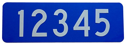 Silver Lining Custom 911 Blue Reflective Address Sign Horizontal Plate 4