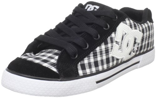 DC Women's Chelsea Action Sports Shoe,Black/Plaid/White,9.5 M US