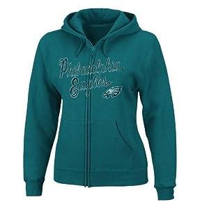 NFL Philadelphia Eagles Women's Long Sleeve Full Zip Fleece Hoodie by VF Imagewear