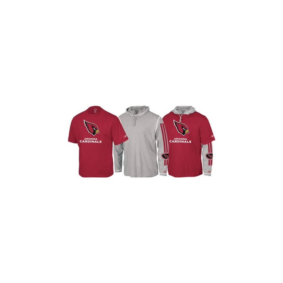 Arizona Cardinals  Red/Grey  Hoodie Tee Combo  Sports