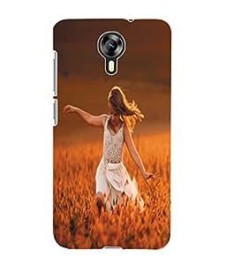 Fuson 3D Printed Beautiful Girl Designer Back Case Cover for Micromax Canvas Xpress 2 E313 - D950