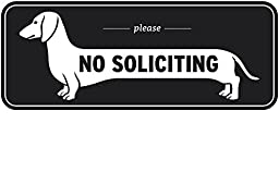 Exclusive Dachshund No Soliciting Window Sign, Do Not Solicit Signs