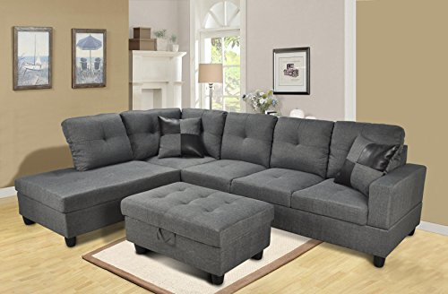 lifestyle-furniture-siano-left-hand-facing-sectional-sofa-gray