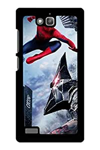 Caseque The Amazing Spiderman Rhino Punch Back Shell Case Cover For Huawei Honor 3C