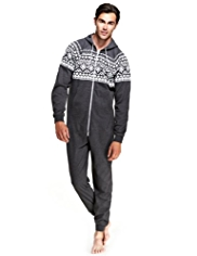 Hooded Fairisle Onesie