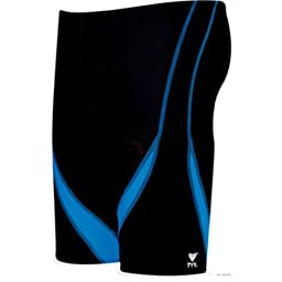 TYR Alliance Team Splice Jammer Black/Blue Size 38