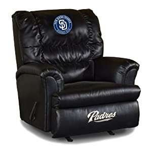 MLB San Diego Padres Big Daddy Leather Recliner by Imperial