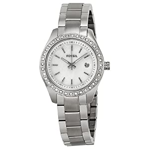 Fossil Women's ES2998 Stainless Steel Analog White Dial Watch