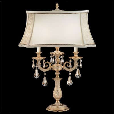 """Sophia One Light Table Lamp Size / Color / Crystal Color: 27"""" / Roman Silver / Silver Shade Strass"""