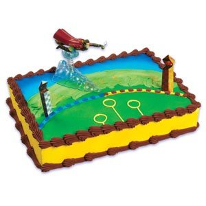 Harry Potter Cake Decorating Kit Topper : Amazon.com: Harry Potter Quidditch Cake Topper Set: Sports ...