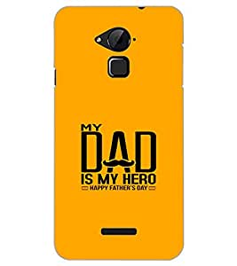 COOLPAD NOTE 3 MY DAD IS MY HERO Back Cover by PRINTSWAG