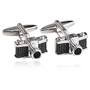 Camera Shape Cufflinks 18K Platinum Plated Gift Boxed By Digabi