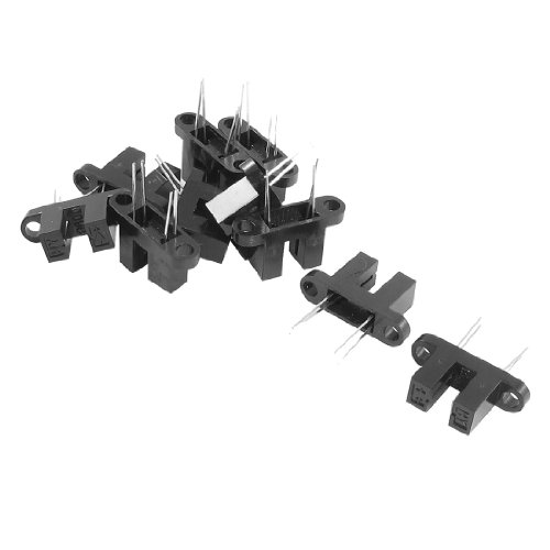 "10 Pcs 11/64"" Gap 4 Pin Photo Interrupter Blk W Bracket Hy860D front-168163"