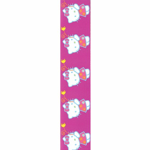 Offray Hello Kitty Craft Ribbon, 7/8-Inch x 9-Feet, Purple Flower (Dora Shower Head compare prices)