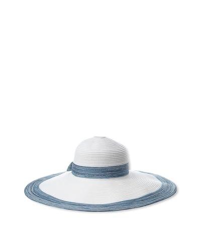Giovannio Women's Sunhat, White/Blue, One Size