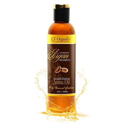 BEST Argan Oil Shampoo - Promotes Hair Growth - Backed By 120-Day Warranty & 100% Satisfaction Guarantee! Natural, Sulfate-Free, Professional Quality Stops Frizz, Leaves Hair Soft & Silky 8oz