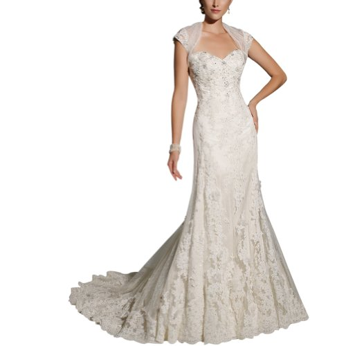 GEORGE BRIDE Designer Mermaid Lace Court Train Wedding Dress