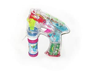 WeGlow International Battery Operated Light Up Bubble Gun (2 Bubble Guns )