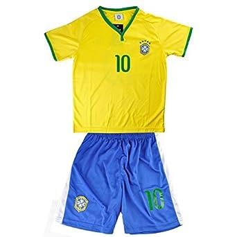 Buy Little Hand Kids Brazil World Cup NO.10 Neymar Shirt Jersey & Shorts Set 3-13Y by Little Hand