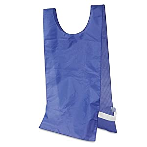 Champion Sports - Heavyweight Pinnies, Nylon, One Size, Blue, 1 Dozen - Sold As 1 Dozen - Keep your team organized.