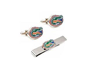 NCAA Florida Gators Cufflinks and Tie Bar Gift Set by Cufflinks