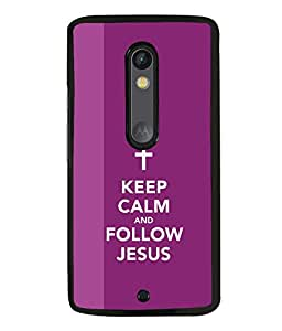 printtech Keep Calm Jesus Back Case Cover for Motorola Moto X Style