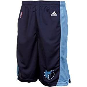 Memphis Grizzlies NBA Youth Basketball Road Shorts Navy by adidas