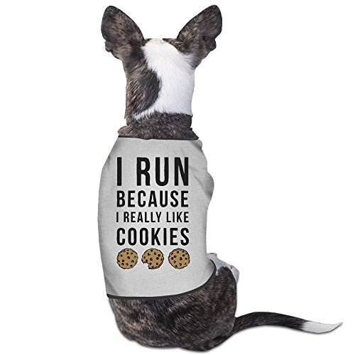 YRROWN I Run Because I Really Like Cookies Puppy Dog Clothes (Halloween Colorado 2016)