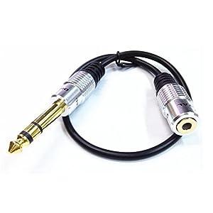 VIMVIP 6.35mm Male Plug to 3.5mm Female Socket Headphone Extension Cable