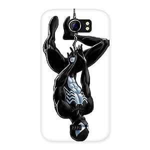 Delighted Black Web Multicolor Back Case Cover for Micromax Canvas 2 A110