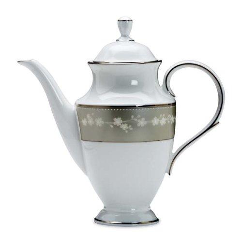 Lenox Bellina Bone China Platinum Banded Coffeepot