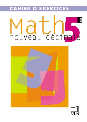 Nouveau D 233 Cimale Math 5e Cahier D Exercices Philippe
