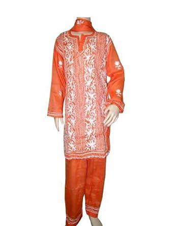 Cinnabar Embroidered Girls Cotton Salwar Kameez with Duptta