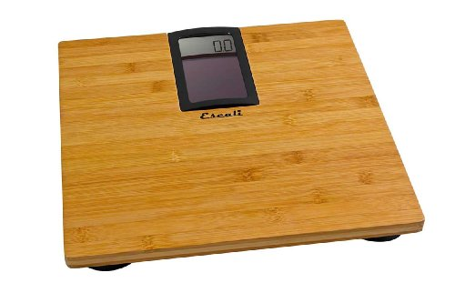 Escali ECO180 Solar Bamboo Bath Scale 400 Lb/180 Kg, Natural Bamboo