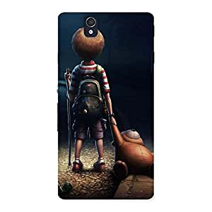 Ajay Enterprises Alon Boy With Teddy Back Case Cover for Sony Xperia Z