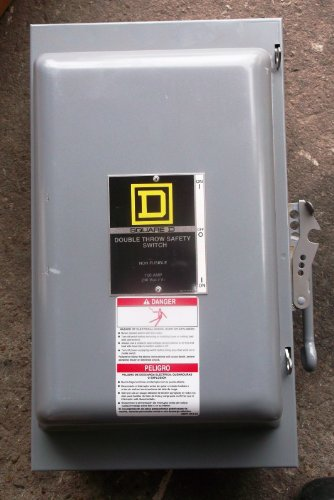 *NEW* Square D 100 Amp Double Throw Safety Switch Cat# 82253 *NEW* $300