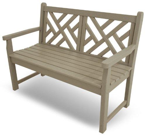 POLYWOOD CDB48SA Chippendale 48″ Bench, Sand
