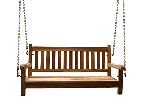 SAM-Teak-Holz-2-Sitzer-Gartenschaukel-Gartenbank-Sitzbank-120-cm-Susana-mit-Hngekette-massive-Holzbank-ideal-fr-den-Sommer