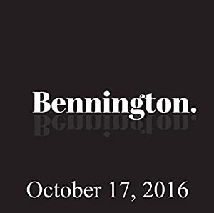 Bennington, October 17, 2016 Radio/TV Program