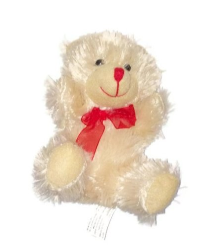 Chocolate-Scented Teddy Bear with Red Bow - 7 inches tall (MOCHA CUTIE) - 1