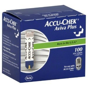 Accu-Chek Aviva Plus Blood Glucose Test Strips, 100 Count