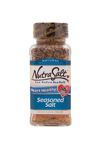 NutraSalt Seasoned Salt, 4.25-Ounce Containers (Pack of 6)