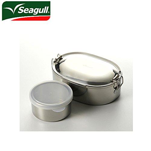 (シーガル)seagull ランチボックス オーバルランチボックス 弁当箱 ステンレス 16cm(730ml) デザートカップ付き seagl-006